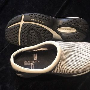 Merrell Primo Vent Silver Mist Slip On Mocs Womens